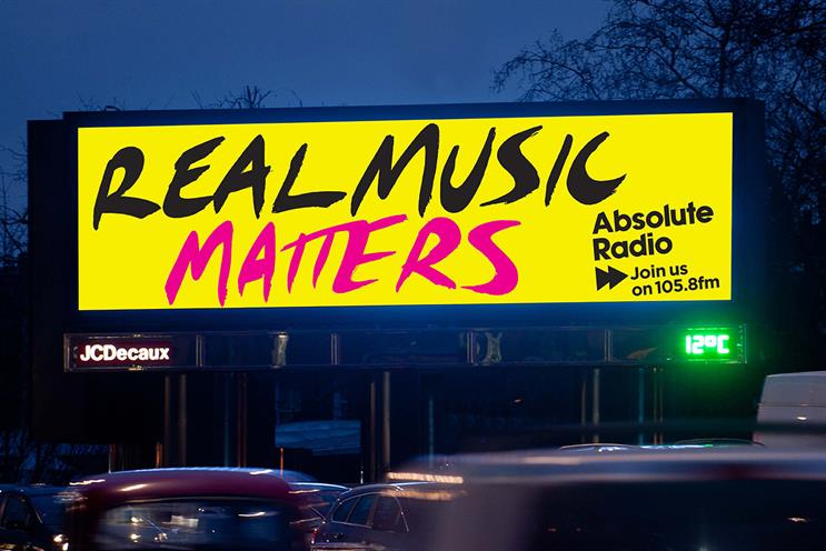 Absolute Radio: outdoor ad campaign will start in early 2016