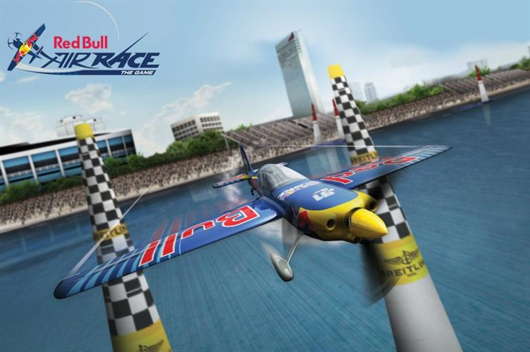 A visual from the Red Bull Air Race – The Game, which will be used as a VR experience at the World Championships at Ascot