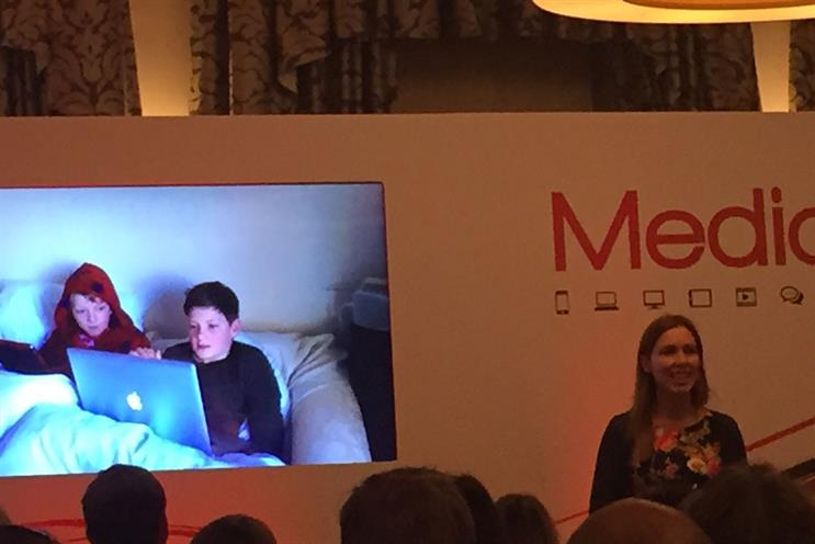 Katherine Hipwell from Red Bee Media presents on social video at Media360
