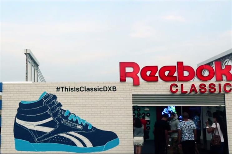 Reebok previously activated at Sole DXB in November
