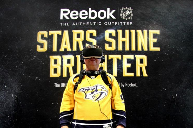 Global Reebok Launches Vr Product At National Hockey League Event