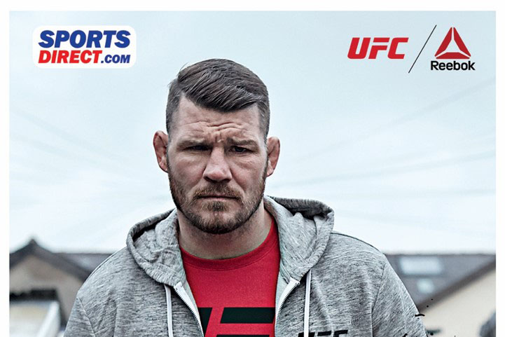 Michael Bisping, a professional fighter, promotes the brand tie-up