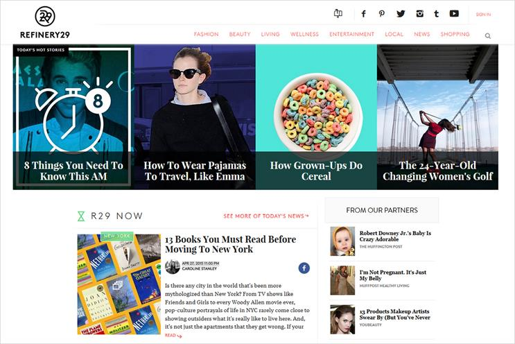 Refinery29: the fashion and lifestyle site