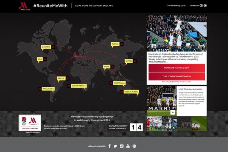 Marriott: using Skype data to target rugby-loving nations