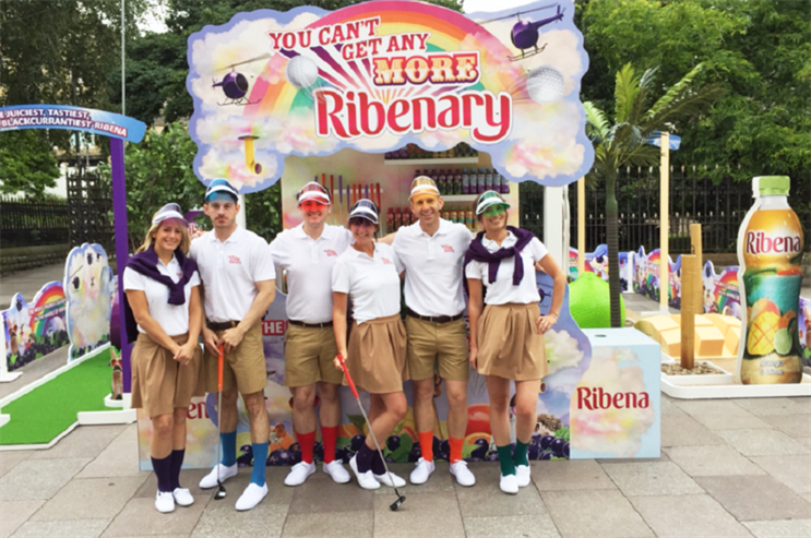 Ribena crazy-golf roadshow gets underway