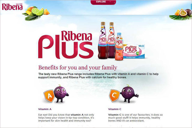 Ribena: website health claims criticised by the ASA