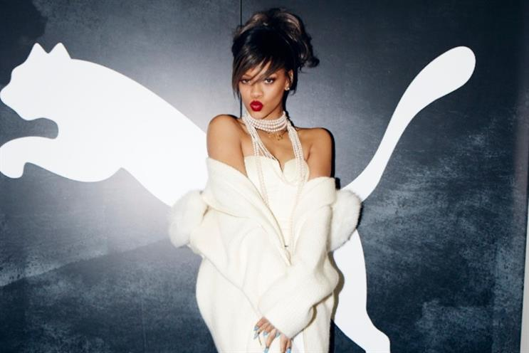 Rihanna: official high street endorsements include Puma