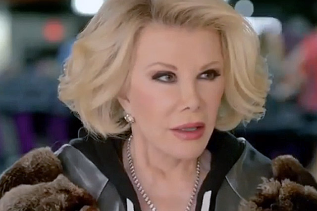 Joan Rivers: pictured in a TV commercial for SK Energy by Pure Growth Partners