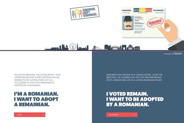 Romanians campaign to 'adopt' Brits who voted to Remain in EU