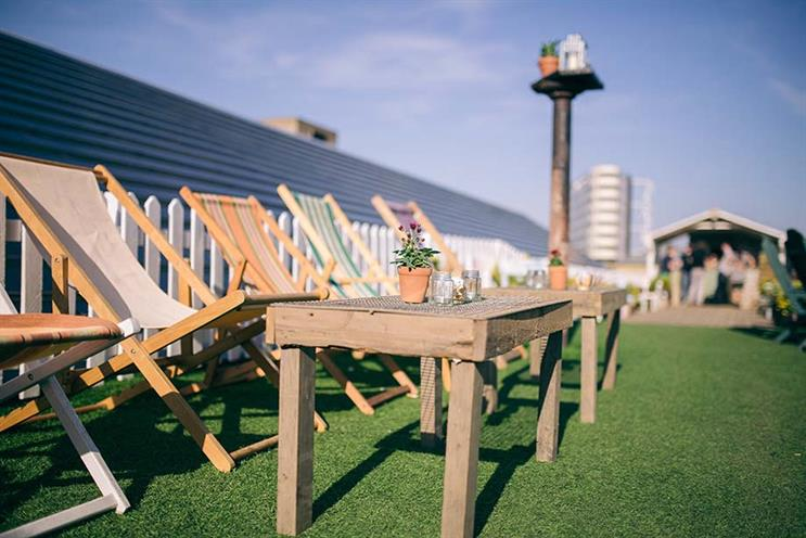 Rooftop event venues: Dalston rooftop park, London