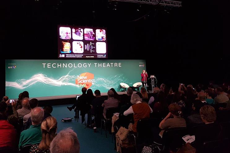 Picard speaking at New Scientist Live
