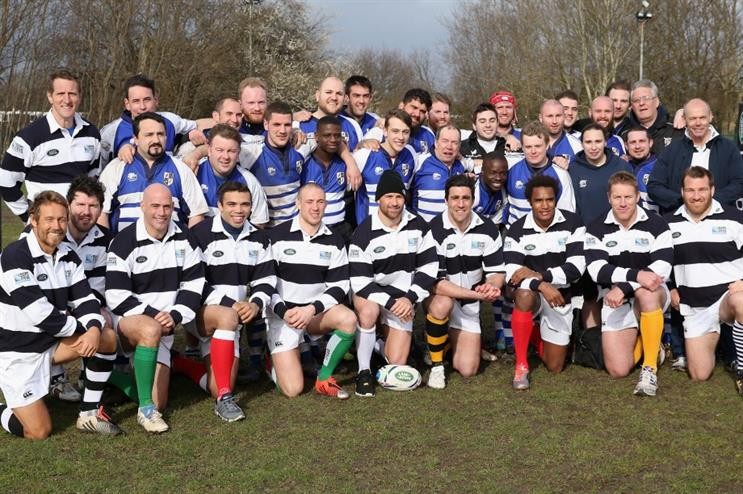 Rugby stars helped out at the grassroots game