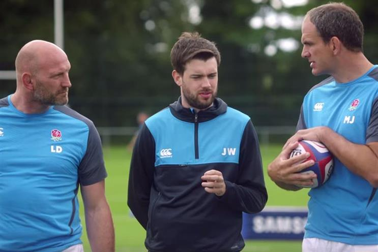 Rugby World Cup ads helped fuel Q3 TV adspend, such as Samsung's effort starring Lawrence Dallaglio, Jack Whitehall and Martin Johnson