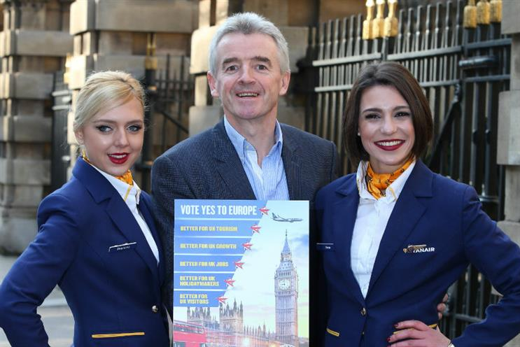 Brexit: Ryanair CEO Michael O'Leary launched the brand's 'Yes' campaign this week