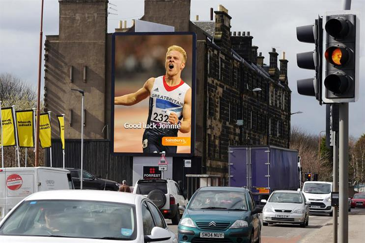 Sainsbury's: campaign will cheer on British Paralympic athletes such as sprinter Jonnie Peacock