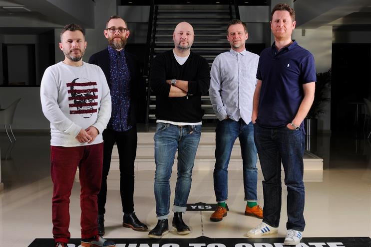 Goodwin, Lawes, Ball, Bedwood (l-r): remain creative directors