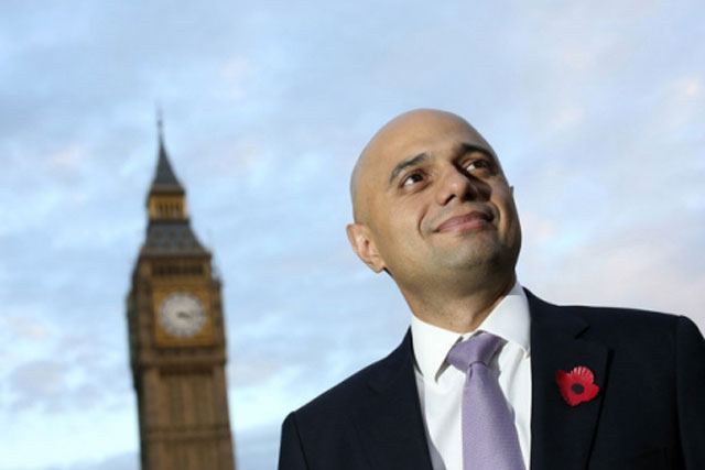Sajid Javid: the new culture secretary