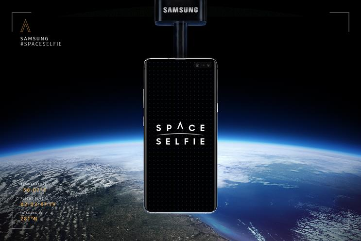 Samsung: mock-up of how backdrop to 'space selfie' will look