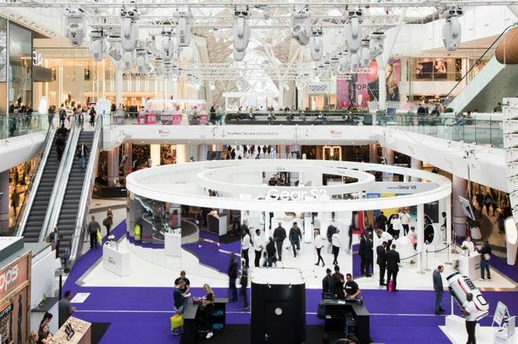 The experience is housed in the Main Atrium of Westfield London (@andreea_raluka)