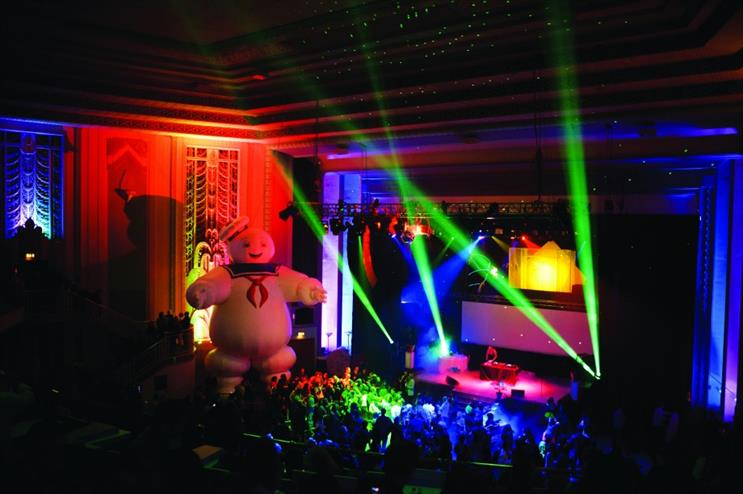 Secret Cinema: screened 'Ghostbusters' at London's Troxy in 2013