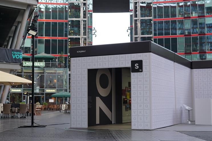 Scrabble marks 70th with giant tile installation