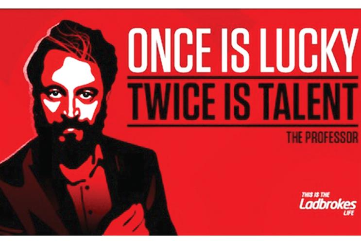 Ladbrokes: one of the posters banned by the ASA last month