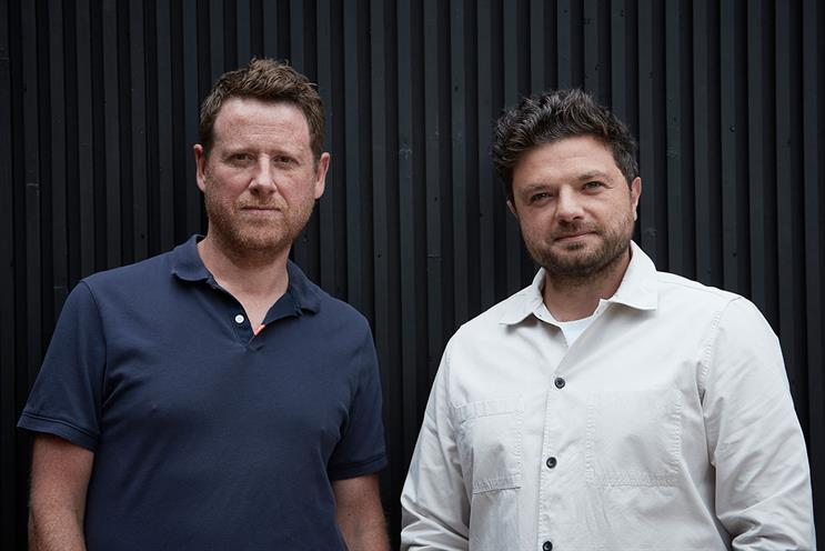 Seven Iron: Dave Bedwood (left) with co-founder Andy Roberts