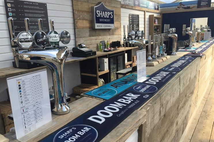 Trinity Set and Stage created Sharp's Brewery activation at major UK festivals this summer