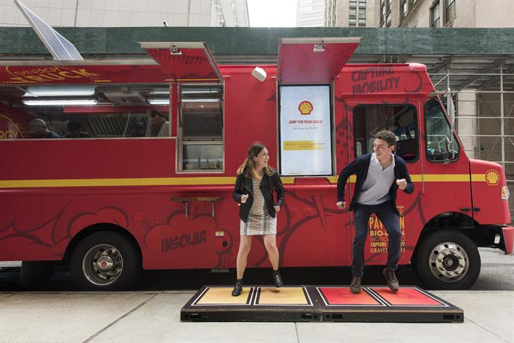 Shell gets New Yorkers to jump for their lunch in new energy campaign