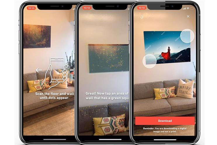 Shutterstock: first AR feature