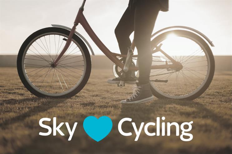 Sky: celebrating cycling on social