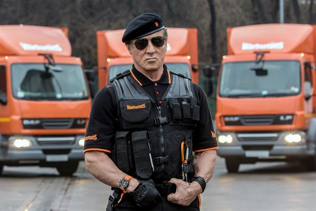 Celebrity: Sylvester Stallone appeared in a Warburtons TV ad campaign last year