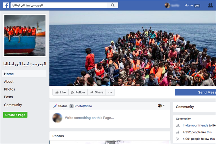 Human smuggling operations 'advertising' on Facebook