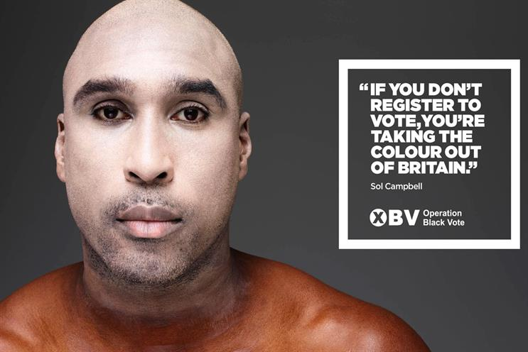 Sol Campbell: stars in the election poster campaign