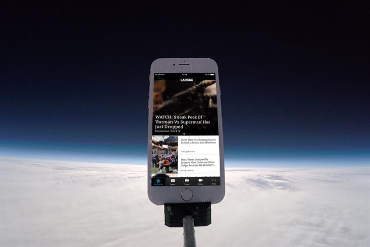 The Lad Bible: The publisher launched the app into space to celebrate the launch