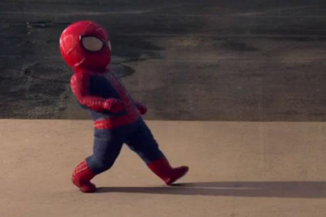Evian: spider-man baby & me