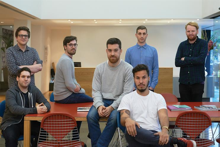 Mills, Butterfield, Whiteside, Moron, Hernandez, Robinson and Ross-Edwards (l-r): new additions to Saatchis' creative line-up
