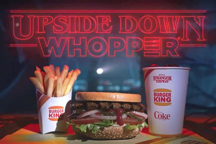 Upside-down whopper: a Netflix tie-up for Burger King in 'Stranger Things'