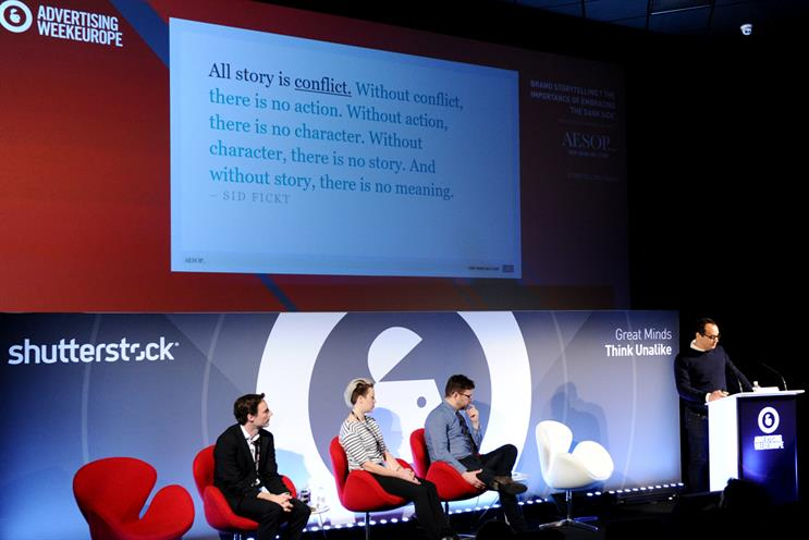 The storytelling session featured marketers from Airbnb and Direct Line