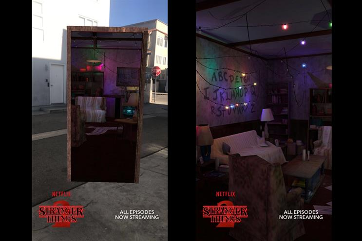 Snapchat and Shazam team up for Stranger Things AR lens