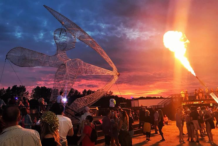 Strongbow's 10-metre festival installation is back