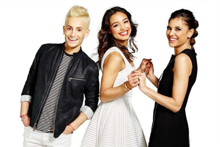 Amazon Fashion: the hosts of daily style show Style Code Live, Frankie Grande, Rachel Smith, and Lyndsey Rodrigues