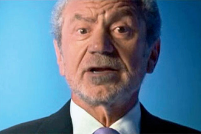 Sir Alan Sugar: appeared in past NS&I campaigns