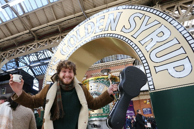 Lyle's Golden Syrup:  PR stunt includes smile activated dispenser