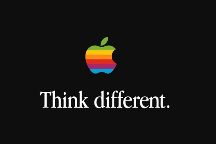 Apple: former slogan was 'Think different'