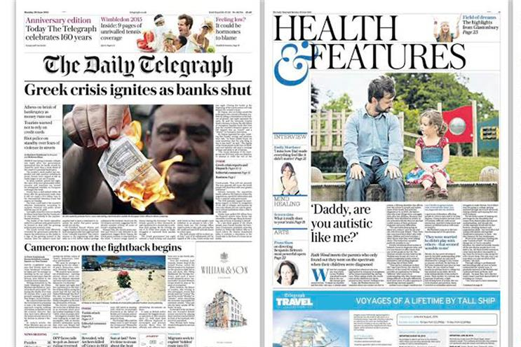 Telegraph: brings back gothic masthead and introduces a new font