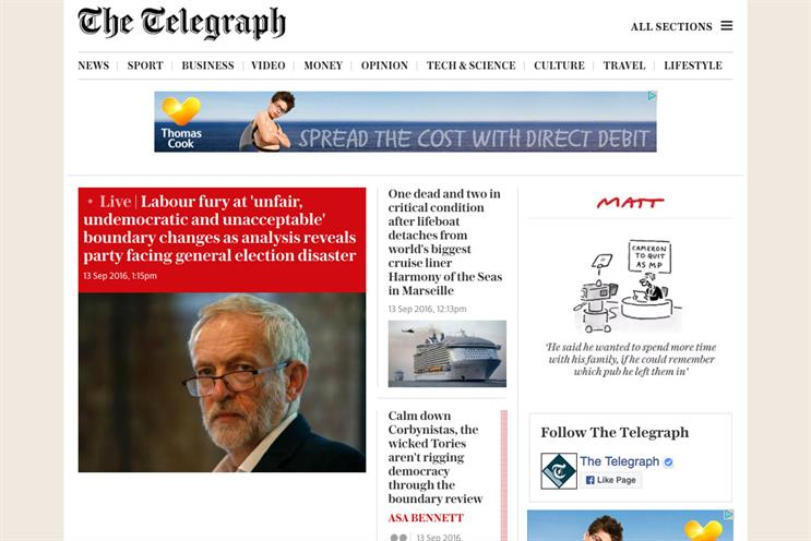 Telegraph Media Group in talks with agencies over digital