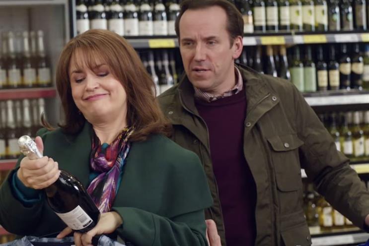 Tesco: Christmas campaign featuring Ruth Jones and Ben Miller