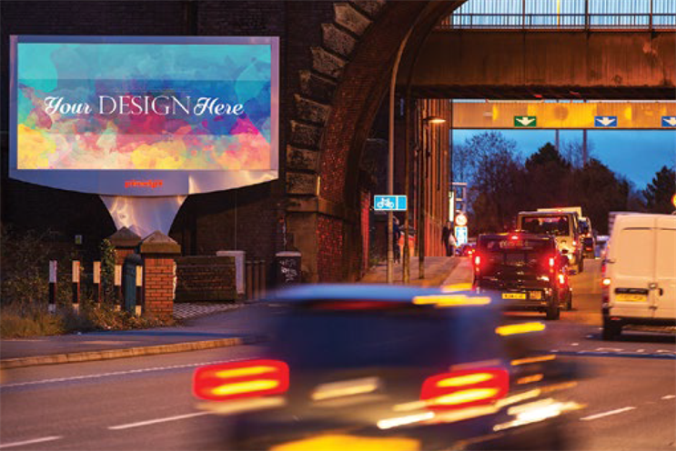 The winning design will appear on 10 of Primesight's large format, digital poster sites across the UK