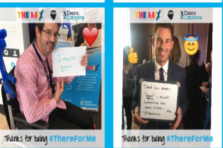 Dixons Carphone: encouraging people to come in-store to support mental health initiative